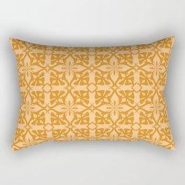 Ethnic tile pattern orange Rectangular Pillow
