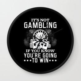 Poker Poker Royal Flush Gambling All In Wall Clock