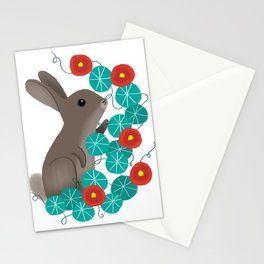 Nasturtium Bunny Stationery Cards