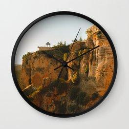 Golden Landscape Wall Clock