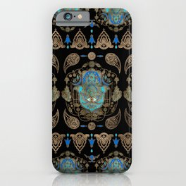 Hamsa Hand -Hand of Fatima Ornament iPhone Case