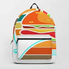 Hamburger Retro Vintage Cheeseburger 80s Backpack