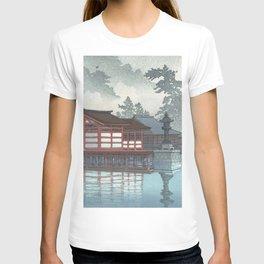 Miyajima On A Misty Day Vintage Japanese Woodblock Print Art By Hasui Kawase T-shirt