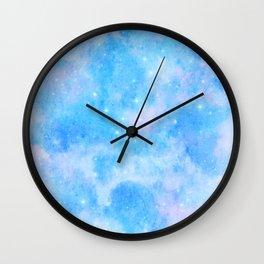 Pastel Cloulds Sky Seamless Nebula 29 Wall Clock