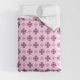geometric flower 93 pink Comforters