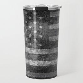 US flag, Old Glory in black & white Travel Mug