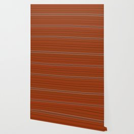 Rust Orange Stripes Wallpaper