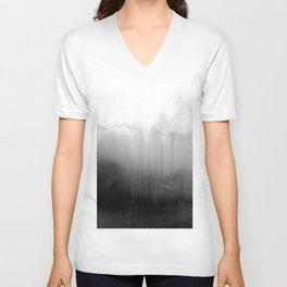 Modern Black and White Watercolor Gradient Unisex V-Ausschnitt