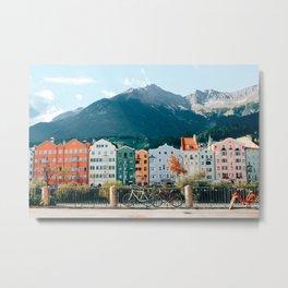 Crayola Houses   Innsbruck, Austria Metal Print