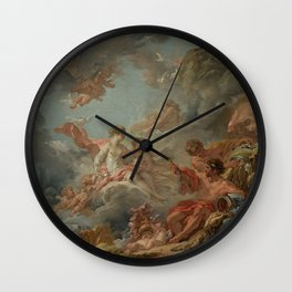 Vulcan Presenting Arms to Venus for Aeneas by François Boucher Wall Clock