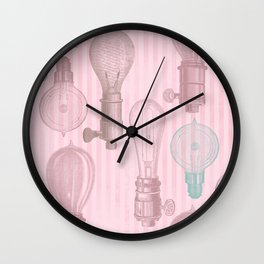 Vintage Light Bulbs Neck Gator Light Bulb Wall Clock