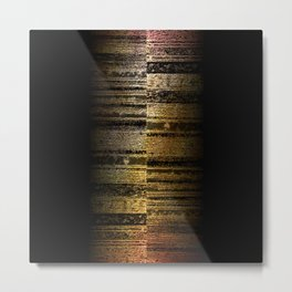 Copper Birch Metal Print