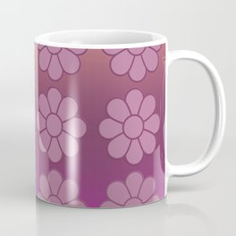 Dusky Pink Symmetrical Flower Pattern with Gradient Coffee Mug
