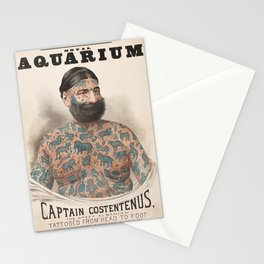Vintage Tattoo Print of Captain Costentenus Stationery Cards