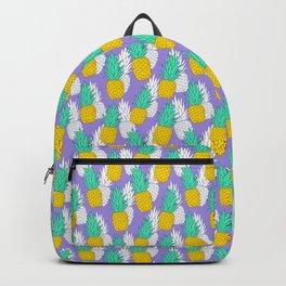 Pineapples on violet Backpack