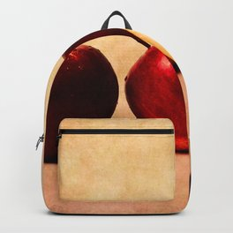 Three red apples and a half Backpack