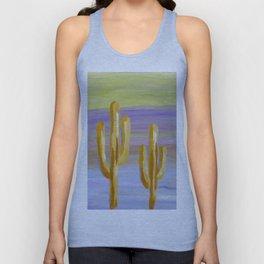 saguaro cacti euphoric sky Unisex Tank Top