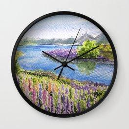 Tekapo Lake Wall Clock