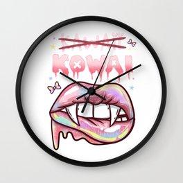 Kawaii Kowai I Pastel Goth I Menhera design Wall Clock