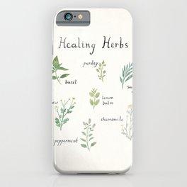 Healing Herbs iPhone Case