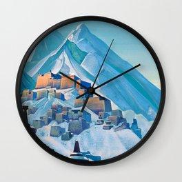 Nicholas Roerich - Tibet Himalayas - Digital Remastered Edition Wall Clock