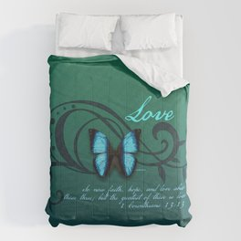 The Greatest of These is Love Comforters
