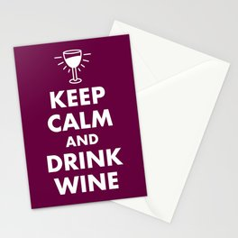 Keep Calm and Drink Wine Stationery Cards