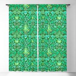 William Morris Hyacinth Print, Emerald Green Blackout Curtain