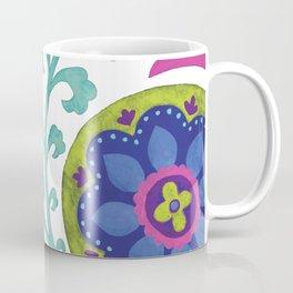 Watercolor Suzani Pattern Coffee Mug