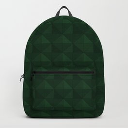 Green triangles pattern  Backpack
