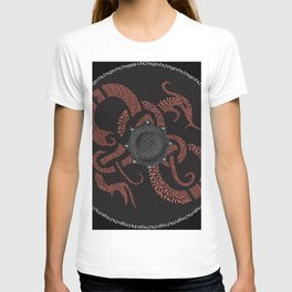 Watercolor Graphic 04, Norse Viking Dragon Shield, Fortitude Courage and Strength T-shirt