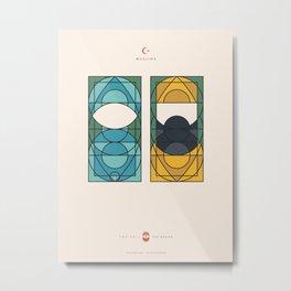 THE VEIL AND THE BEARD - Muslims - Woman & Man Metal Print