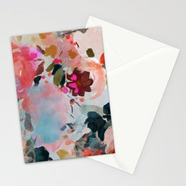 floral bloom abstract painting Stationery Cards