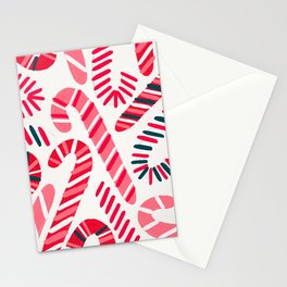 Candy Canes – White Stationery Cards