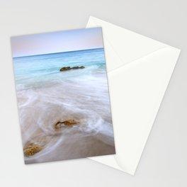 """""""Serenity beach"""". Praia Do Porto Mos At Sunset. Algarve. Portugal Stationery Cards"""