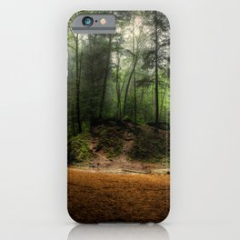 USA Hocking Hills State Park Ohio Cliff Nature Waterfalls Trees Crag Rock iPhone Case