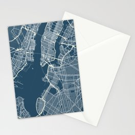Map of New York Stationery Cards