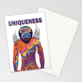 UNIQUENESS in you motivate yourself Stationery Cards