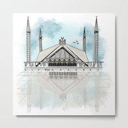 Faisal Mosque Metal Print