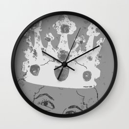 Always Wear Your Invisible Crown: Medieval Grey Wall Clock