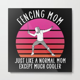 fencing mom Metal Print