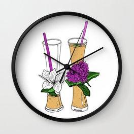 Tropical fruit shakes Wall Clock