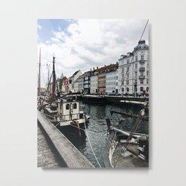 Canal in Copenhagen Metal Print