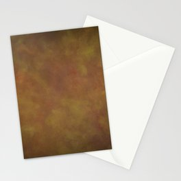 Abstract Watercolor Patch Work Blend 11 Light Brown & Dark Brown, Earth Tones Stationery Cards