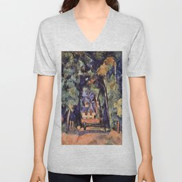 Paul Cezanne The Alley in Chantilly 1888 Unisex V-Neck
