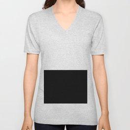 WHITE-BLACK Unisex V-Neck