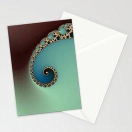 Teal Loop - Fractal Art  Stationery Cards