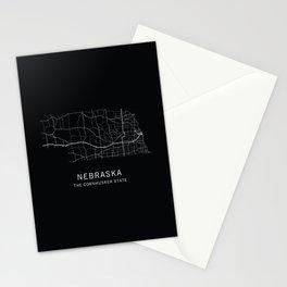Nebraska State Road Map Stationery Cards