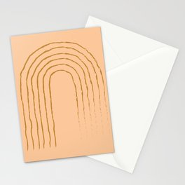 Burnt Orange Rainbow Print, Abstract Art, Boho Print Stationery Cards