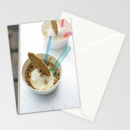 ce cream for dessert Stationery Cards
